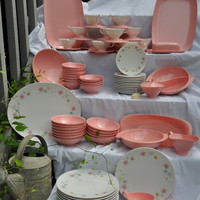 HUGE SALE Retro Boontonware 85 Pieces, 12 Place Settings, Vintage, 1950s, Vintage
