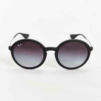Ray-Ban Black Rubberized Round Sunglasses