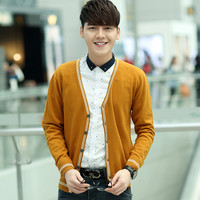 Man Cardigan New Fashion Brand Plus Size Men Casual Sweater V-Neck Solid Men Knitting Cardigan Men Slim Fit Pull Homme Clothes