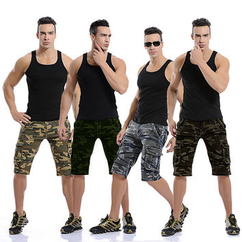 Summer Men's Fashion Camouflage Outdoors Plus Size With Pocket Casual Pants Shorts [6541730627]