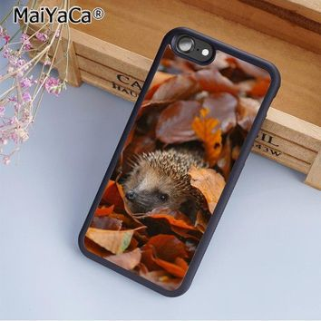 MaiYaCa Little Hedgehog Cute Nature Wildlife Phone Case Cover for iPhone 5 5s 6 6s 7 8 X XR XS max samsung S6 S7 edge S8 S9 Plus