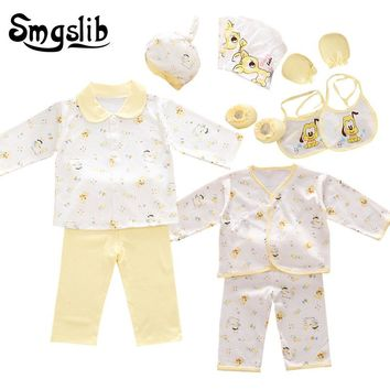 Smgslib Baby clothes cotton 18pcs/set New born baby boy clothes Cartoon baby girl clothes gift tracksuit first birthday outfit