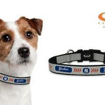 New York Yankees Reflective Small (S) MLB Baseball Safety Pet Dog Collar