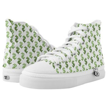 Dollar Sign Pattern Printed Shoes