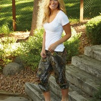 Weber Camo Casual Wear Capri Pants Sm BreakUp