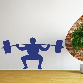 Weightlifter Wall Decal