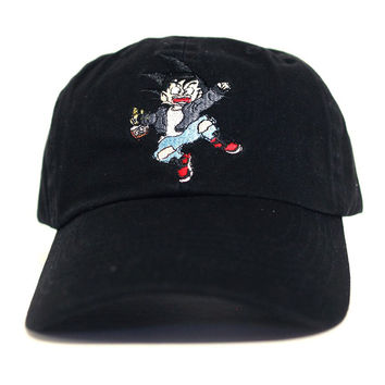 Misunderstood Goku Dad Hat in Black - Just Restocked