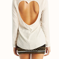 heart-cut-out-back-blouse CREAM MUSTARD - GoJane.com