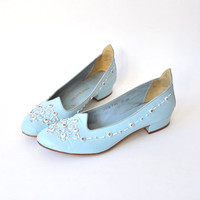 vintage 1960s shoes / leather / shoes size by RockAndRollVintage