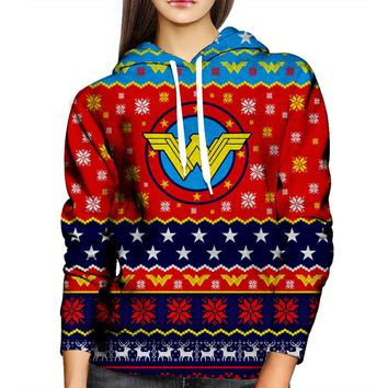 Wonder Woman Christmas Womens Hoodie