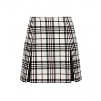 carven - plaid wool skirt