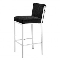 Silver Black Velvet Bar Stool | Eichholtz Scott