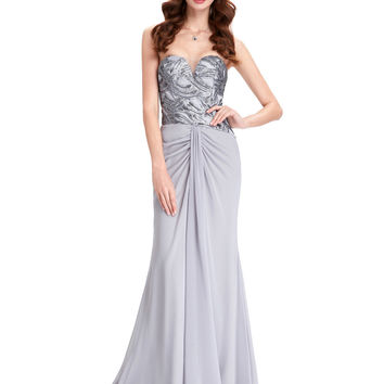Fashion Silver Sequin Mermaid Evening Dress 2016 Grey Ruched Evening Gown Sleeves Long Elegant Prom Dresses Formal Party Gowns