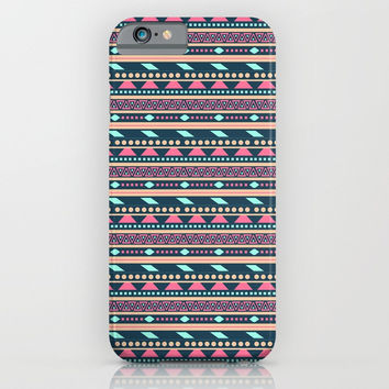 Colorful Abstract Aztec Tribal Pattern iPhone & iPod Case by Smyrna