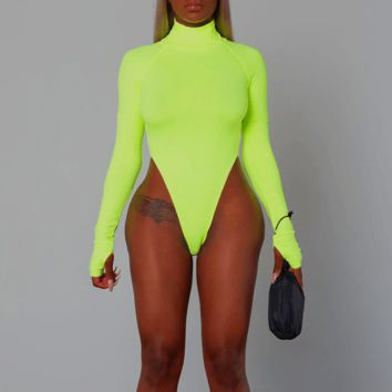 Mock Turtleneck Bodysuit