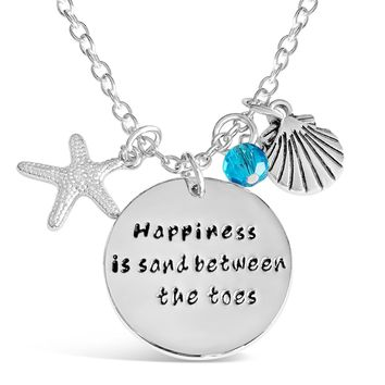 Happiness Is Sand Between The Toes Necklace