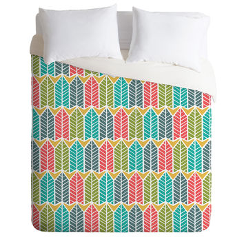 Heather Dutton Arboretum Leafy Multi Duvet Cover