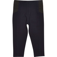 River Island Mini girls navy leggings