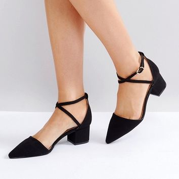 RAID Avia Black Cross Strapped Heeled Shoes at asos.com