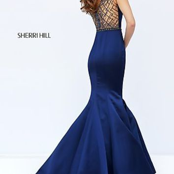 Long Sherri Hill Dress with Mermaid Skirt