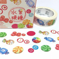 sweet candy handmade candy washi tape 7M fruit candy homemade candy colorful sweet candy sticker tape japanese traditional candy decor