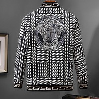 VERSACE Trending Men Women Leisure Print Zipper Cardigan Jacket Coat