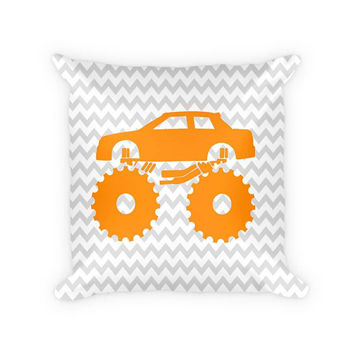Monster Truck Children's Woven Cotton Pillow