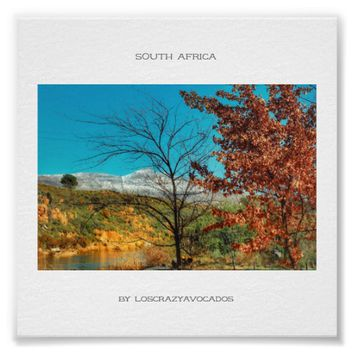 South Africa Winter Autumn Landscape Snow Poster