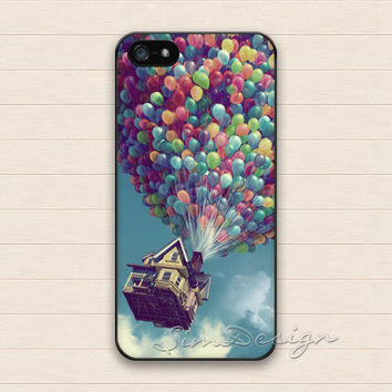Balloon iPhone 5 5s Case,iPhone 4 4s Case,iPhone 5C Case,Samsung Galaxy S3 S4 S5 Case,Up balloons fly house Hard Plastic Rubber Cover Case