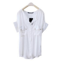 Casual Style Shirt - white