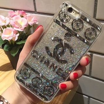 Chanel Fashion Personality Shining iPhone Phone Cover Case For iphone 6 6s 6plus 6s-plus 7 7plus 8 8plus