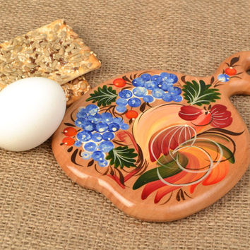 Small handmade beach wood cutting board with