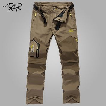 New 2017 Pants Men Quick Dry Men's Pants Summer Spring Fast Drying Military Casual Thin Cargo Pant for Male Long Trousers L-5XL