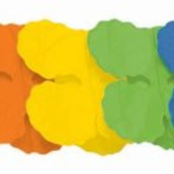rainbow paper garland Case of 6