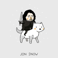Jon Snow, Game of Thrones Art Print by Jarvis Glasses