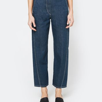 Lemaire / Twisted Pants in Jade Blue