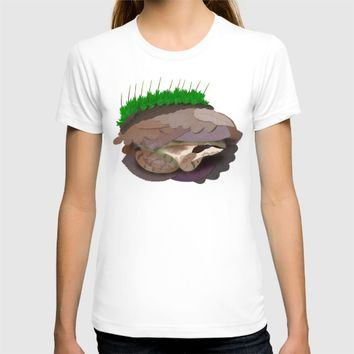 Hibernating Wood Frog T-shirt by 13sparrows