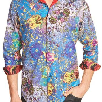 Men's Robert Graham 'Admiralty' Classic Fit Embroidered Print Sport Shirt,