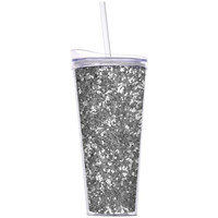 Slant Collections- 22 Oz. Hot/Cold Tumbler- Silver Glitter
