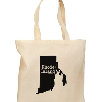 Rhode Island - United States Shape Grocery Tote Bag by TooLoud