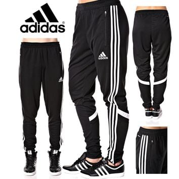 Soccer Pants Slim Fit Training Climacool Black Skinny Athletic YoungLA