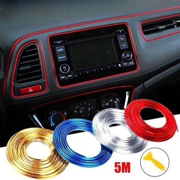 5M Adhesive Strips for Car Interior Decoration Molding Door Line Air Vent Panel Direction-Flexible Wheel In Car Styling Auto Acc