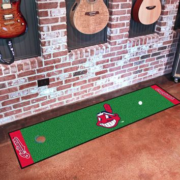 "MLB - Cleveland Indians Putting Green Runner 18""x72"""