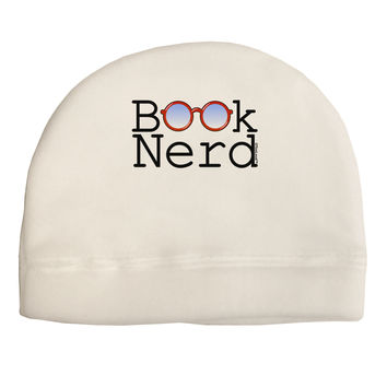 Book Nerd Adult Fleece Beanie Cap Hat