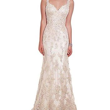 2017 Spring Summer Lace V-Neck Appliques Count Train Bohemian Wedding Dress Romantic Country Boho Bridal Gowns