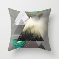 Triangles Symphony Throw Pillow by Cafelab