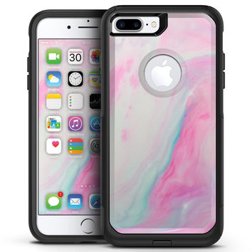 Marbleized Soft Pink - iPhone 7 or 7 Plus Commuter Case Skin Kit