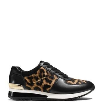 Allie Leopard Calf Hair and Leather Sneaker | Michael Kors