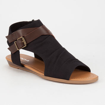 SODA Hooded Buckle Womens Sandals | Sandals
