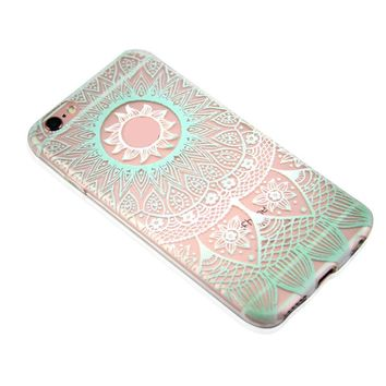 Lace Flower Case for iPhone 6s 7 7Plus iPhone X 8 Plus & Gift Box